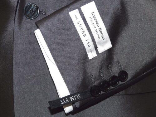 Mens Lorenzo Bruno Shawl Tuxedo Slim 3 Piece Shiny Formal Suit S6501V Gray Black