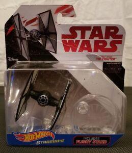 Hot-Wheels-Starships-Star-Wars-Die-Cast-Tie-Fighter-Includes-Flight-Stand