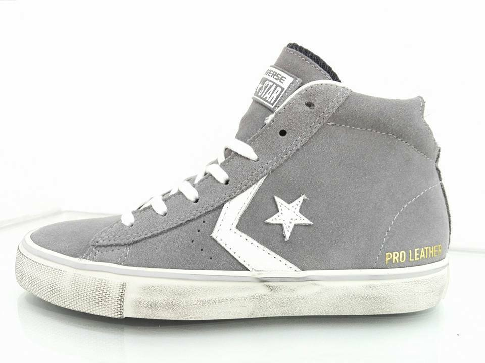 Converse Leather Pro Leather Converse Lp Mid Suede Grigio 158934 d2ef1b