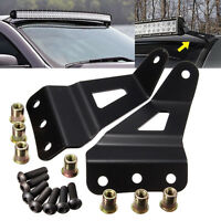 For Chevy/gmc Windshield 52''/54 Led Bar Curved Top Roof Mount Brackets Steel