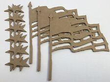 "{4} *Embossed Bird House* Primitive Birdhouse Chipboard Die Cuts 4 1//8/"" x 5 1//8/"""