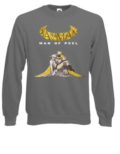 Bananaman Gritty Uomo di buccia Arkham parodia Maglione Felpa Felpa AE14