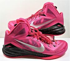 Nike Hyperdunk 2014 Kay Yow Bright Pink & Black Men Shoes Sz 13 NEW 653640 606
