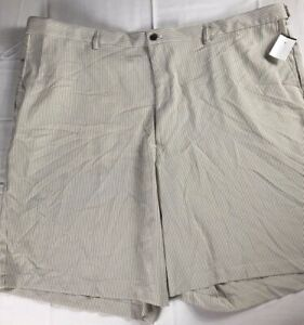 Haggar Shorts Mens 52 NEW Pinstripe Golf Casual Seersucker Lightweight Pinstripe
