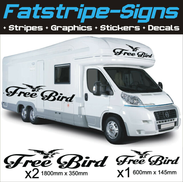 Free bird motorhome vinyl graphics stickers decals camper van caravan horsebox