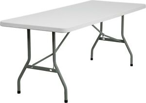 6 Pack 30x 72 Plastic Folding Tables Commercial Quality Banquet