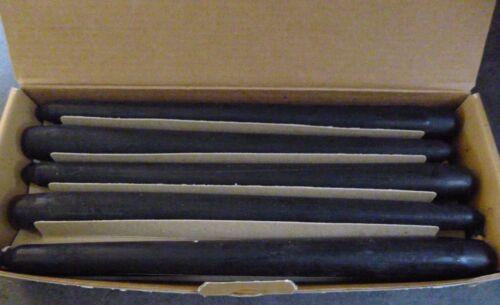 10 NATUZZI BLACK CANDLES..24cm..BOXED...