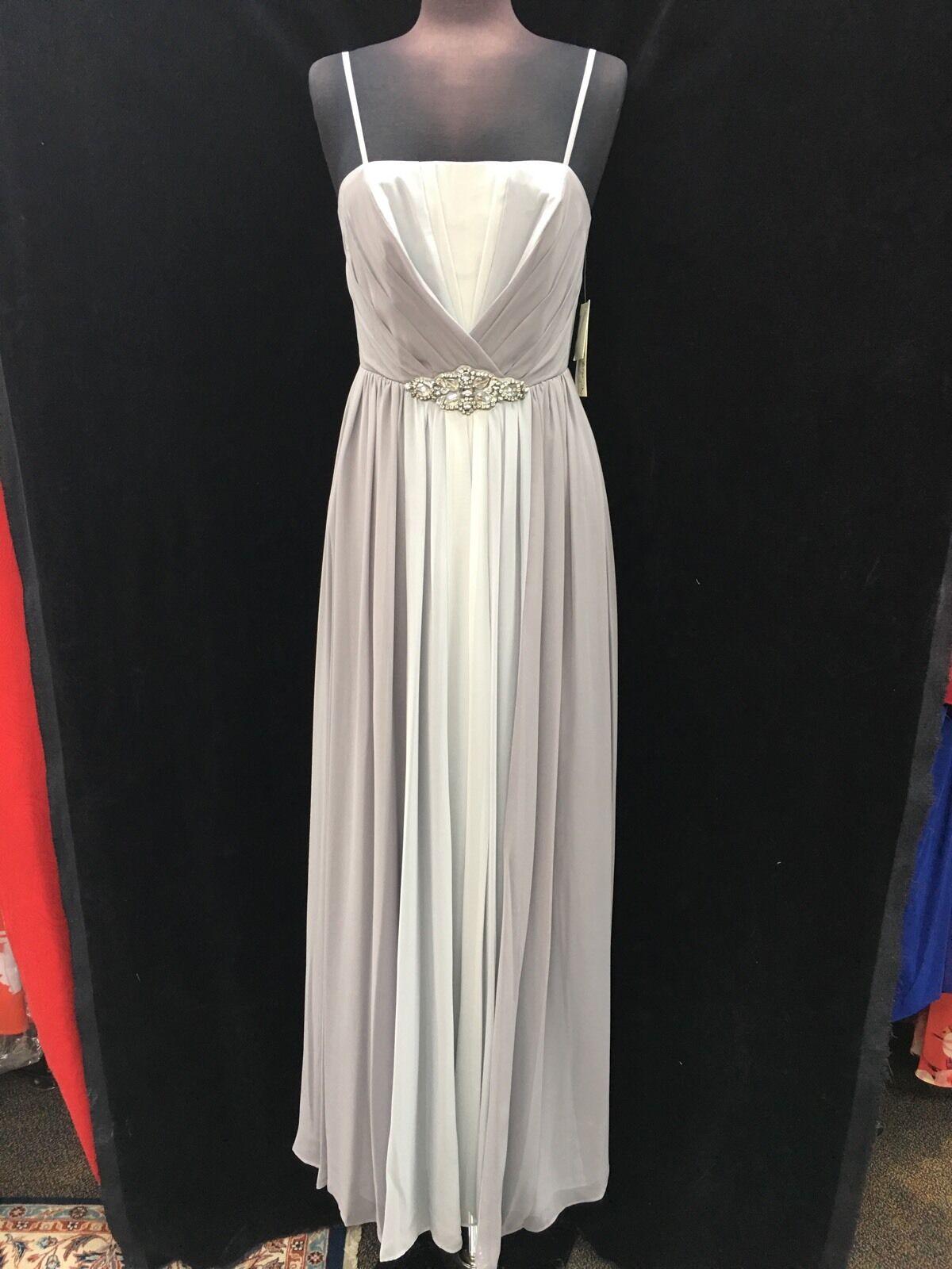 Eliza J Kleid   Größe 8  Silbergrau Neu mit Etikett   Einzelhandel von Braut