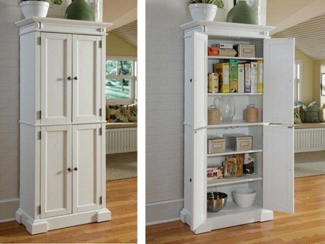 kitchen pantry storage cabinet unfinished pine wood 6
