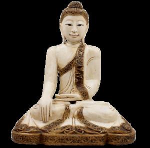 Siddharta Gautama Legno Buddha Figura (51cm) Tailandia Shakyamuni Statua Di
