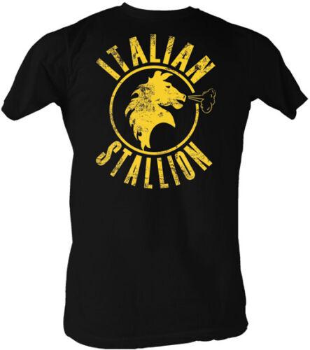 Rocky Yellow Print Italian Stallion Adult T Shirt Classic Movie
