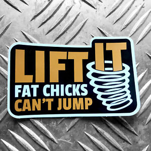 LIFT-IT-FAT-CHICKS-CANT-JUMP-vw-swamper-4x4-sticker-land-rover-offroad