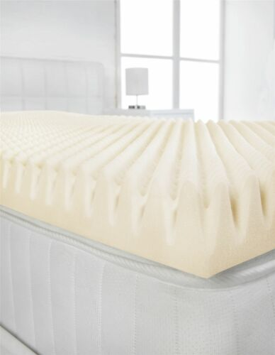 """Egg Shell 160x200cm 3/"""" European King Size Memory Foam Mattress Topper Profile"""