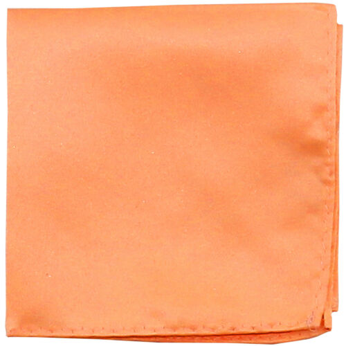 New Men/'s Polyester pocket square hankie only Peach prom wedding