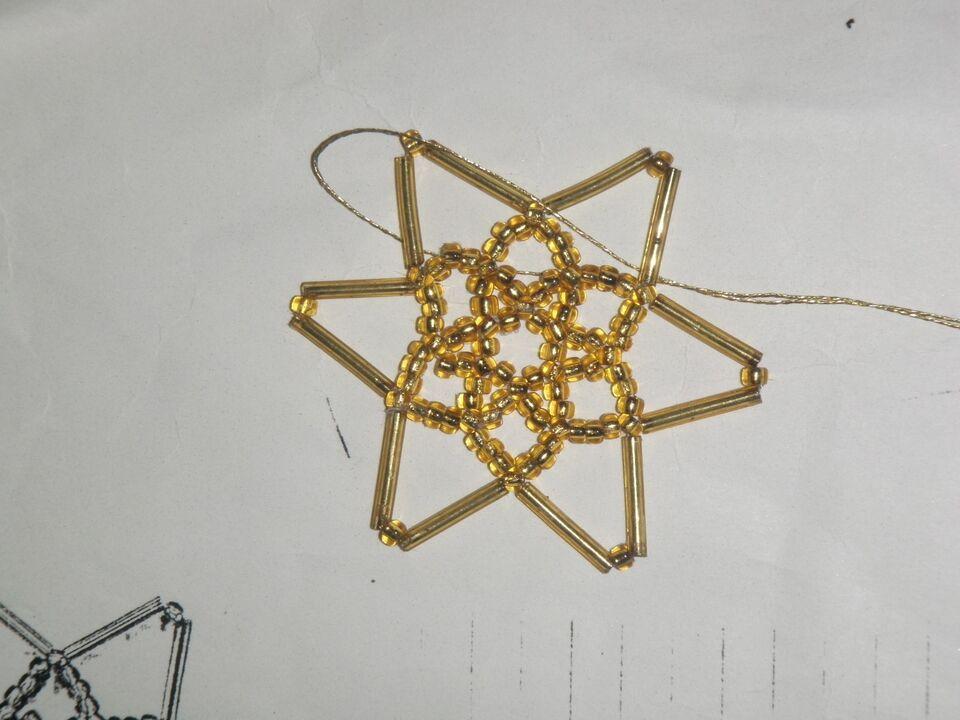 Perler, lange og runde perler til stjerner