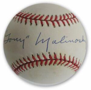 Tony-Malinosky-Hand-Signed-Autographed-MLB-Baseball-Brooklyn-LA-Dodgers-W-COA