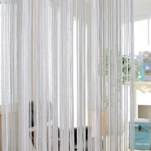 Fadenvorhang Fadengardine Vorhänge Stringvorhang Tür Fenster Quaste Gardine Deko