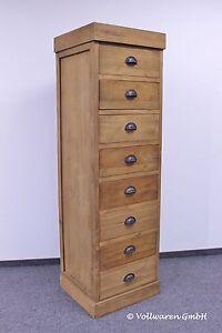 Teak turm kommode pisa 180x55x51 teakholz antik massiv for Kommode 90x100