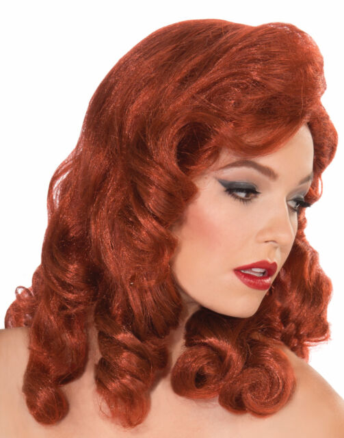California Costumes Womens Pin Up Girl Wig Red