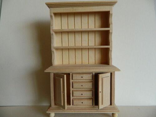 échelle 1//12th maison de poupées barewood Welsh dresser H20