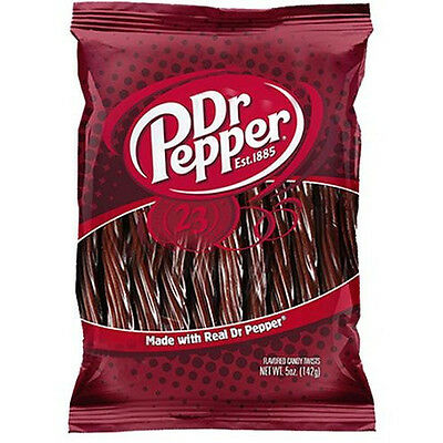 12 x Dr Pepper Twists 142g Pack American Liquorice/ Licorice from Candy Junction