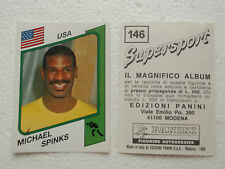 Michael Spinks Figurine Supersport Panini 1986 con velina Mint Sticker #146
