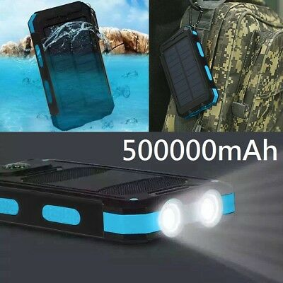 Waterproof 300000mAh Dual USB Portable Solar Battery Charger Solar Power Bank KK