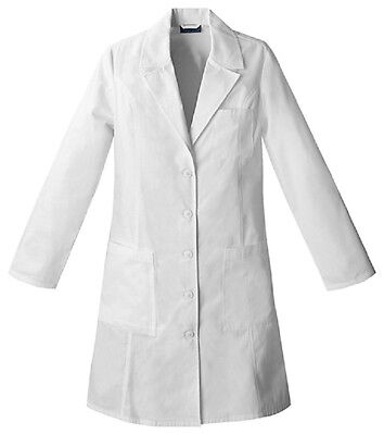 "Scrubs Cherokee Womens 37"" Lab Coat White 2411  FREE SHIPPING!"