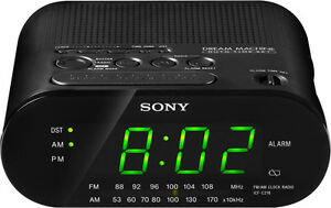 secureguard 720p ac powered sony clock radio alarm clock. Black Bedroom Furniture Sets. Home Design Ideas