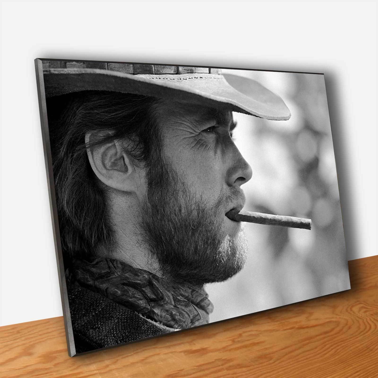 Poster Film Western Clint Eastwood - Stampa Fine Kunst Quadro su Pannello MDF