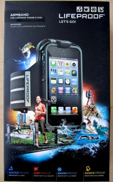 best service 9bc75 65cbf Black Armband for LifeProof iPhone 5 Case Nylon