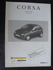 Opel Corsa - Preisliste - Prospekt Brochure 01.1996
