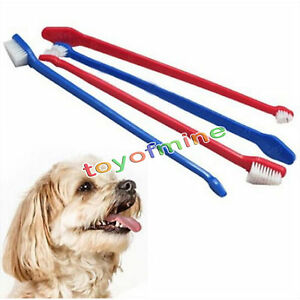 pet dog dual end toothbrush cat puppy kitten dental hygiene care