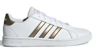 ADIDAS-GRAND-COURT-K-scarpe-donna-advantage-stan-sportive-sneakers-pelle-smith