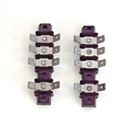 2 BBT Brand 30 amp 4 Gang Terminal Blocks for Spade Type Connectors