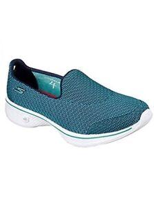 Details about Skechers Go Walk 4 Women's Comfort Walking Shoes Low Top Trainers Teal