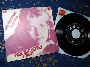 Details about PAUL McCARTNEY w/ WINGS Mrs  Vandebilt RARE ANGOLA RELEASE  7/45 vinyl BEATLES