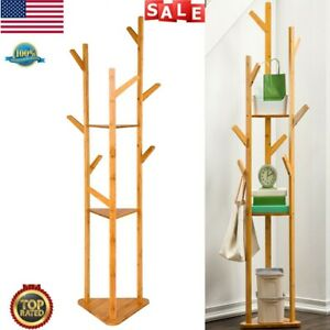 70 Quot Bamboo Coat Hat Rack Clothes Holder Hanger Tree Shaped