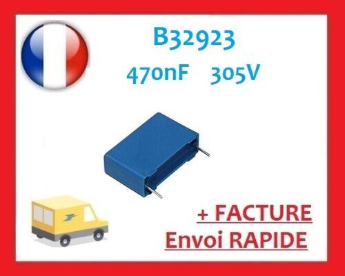 Condensateur polypropylene B32923 B32923C3474K 470nF 305V 22,5mm
