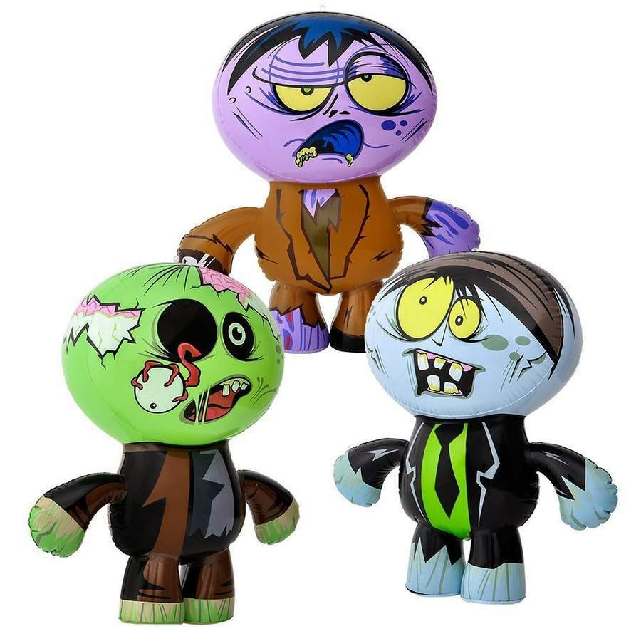 3 Crazy Inflatable Zombies (24 ) Party Party Party Decor Favor Giveaway Toy ebcbc5