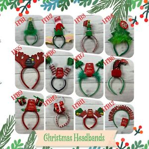 CHRISTMAS HEADBOPPER Headbands Hat Head Bopper Novelty Fun Fancy Dress UK
