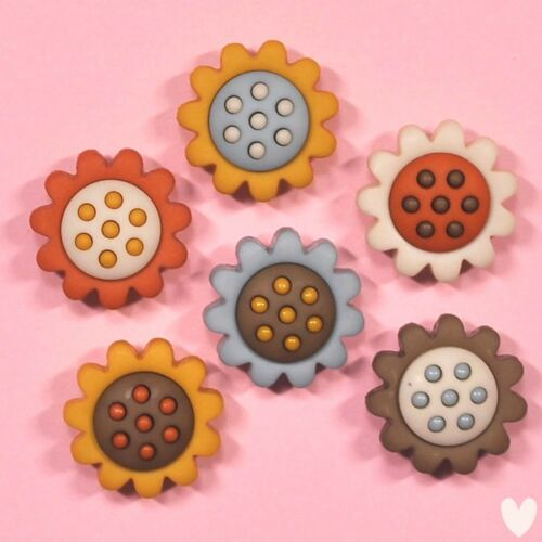 DRESS IT UP Buttons Harvest Blooms 8375 Embellishments Sunflowers