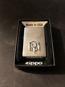 Zippo Lighter Eagle And Feathers Native American Emblem 2000 Design