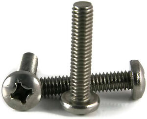 Stainless Steel Phillips Pan Machine Screw 4-40 X 1//2  Qty 100