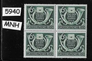 MNH-block-WWII-Germany-Third-Reich-1944-Stamp-day-Hitler-039-s-Culture-fund
