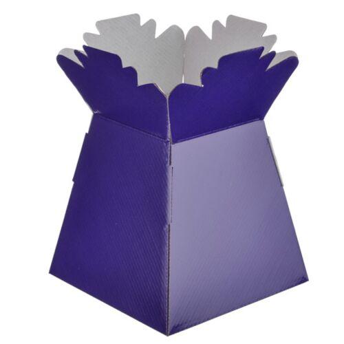 Purple Living Vases Florist Bouquet Box Flower Plant Aqua Sweet Gift Boxes