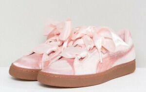 PUMA Satin \u0026 Velvet Pink Basket Shoe