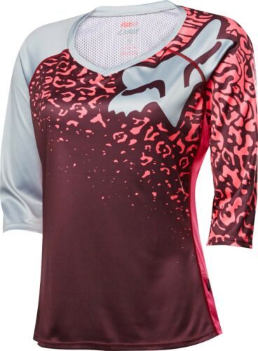 Fox Racing Lynx 3/4 pour femme Manches Jersey NEO ROUGE