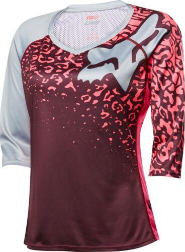 Fox Racing Womens Lynx 3//4 Sleeve Jersey Neo Red
