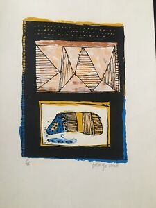 Serigraph-by-Julio-Girona-Of-The-Serie-Marcas-Del-Tiempo-Original-Signed